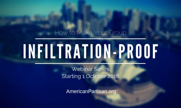 Anti-Infiltration Webinar Series Class Dates – UPDATED