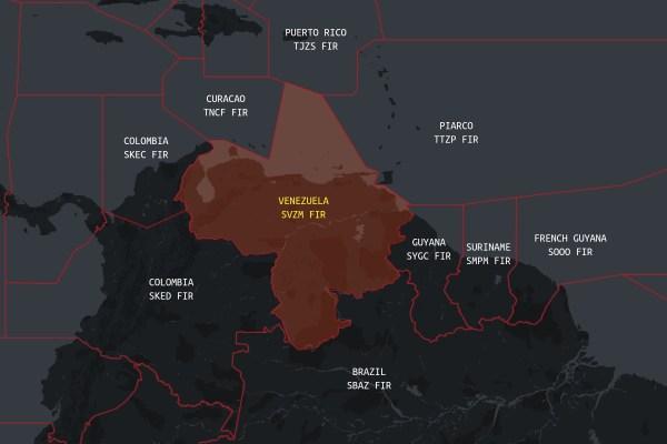 FAA Has Restricted Airspace Around Venezuela