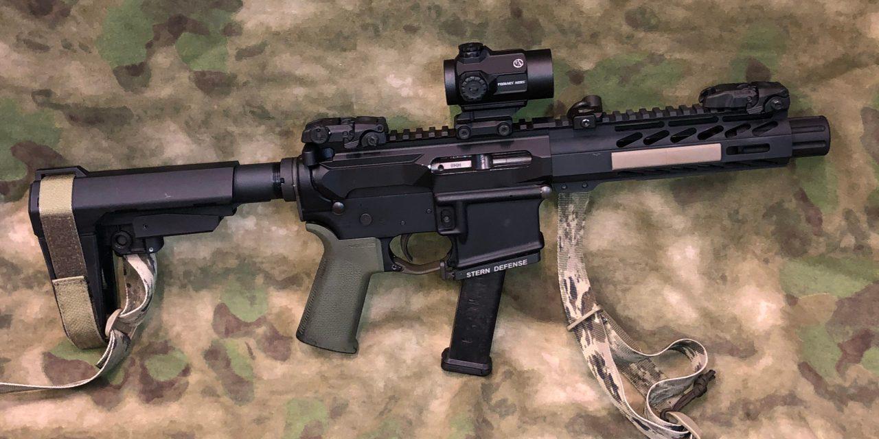 Stern Defense 9mm AR Pistol build
