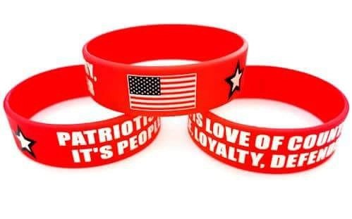 Patriotism Is Silicone Bracelet - With USA Flag