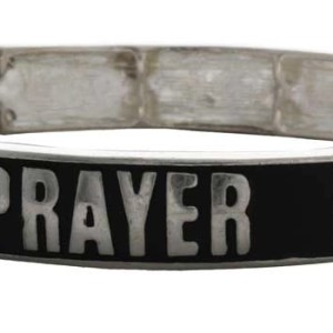 Prayer is the Answer Bracelets Silver Black