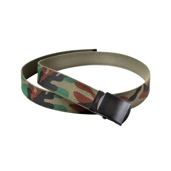 American Patriots Apparel Woodland Camo / OD Green Reversible Web Belt