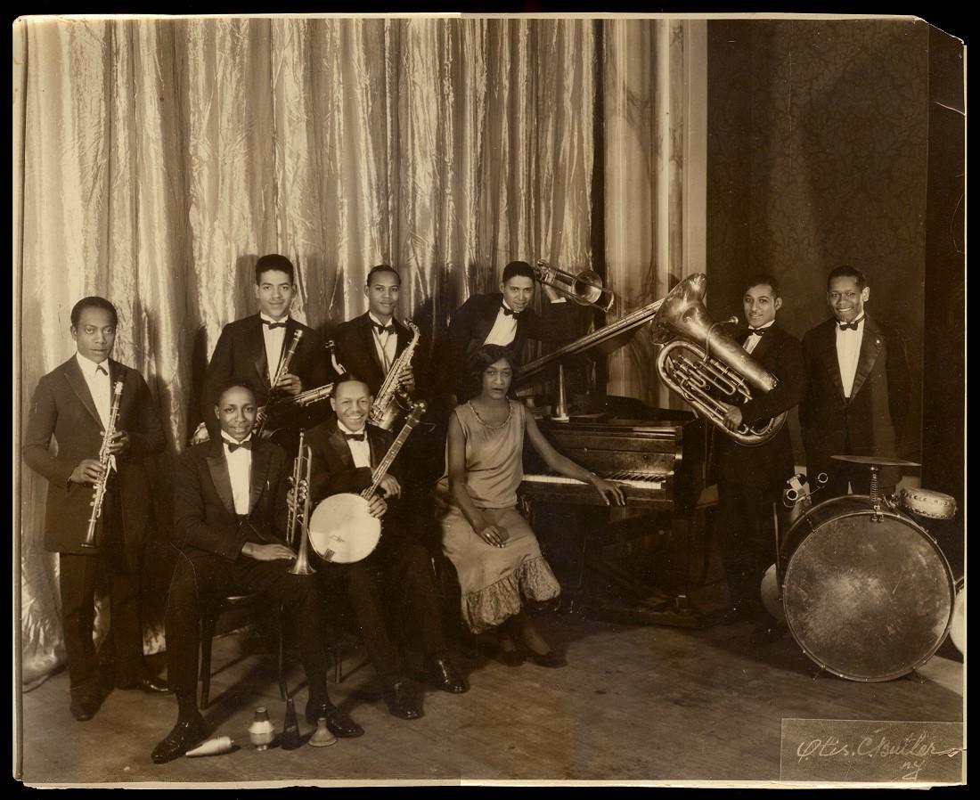 Vintage S Black Jazz Band Harlem Renaissance Otis Butler New York Photo