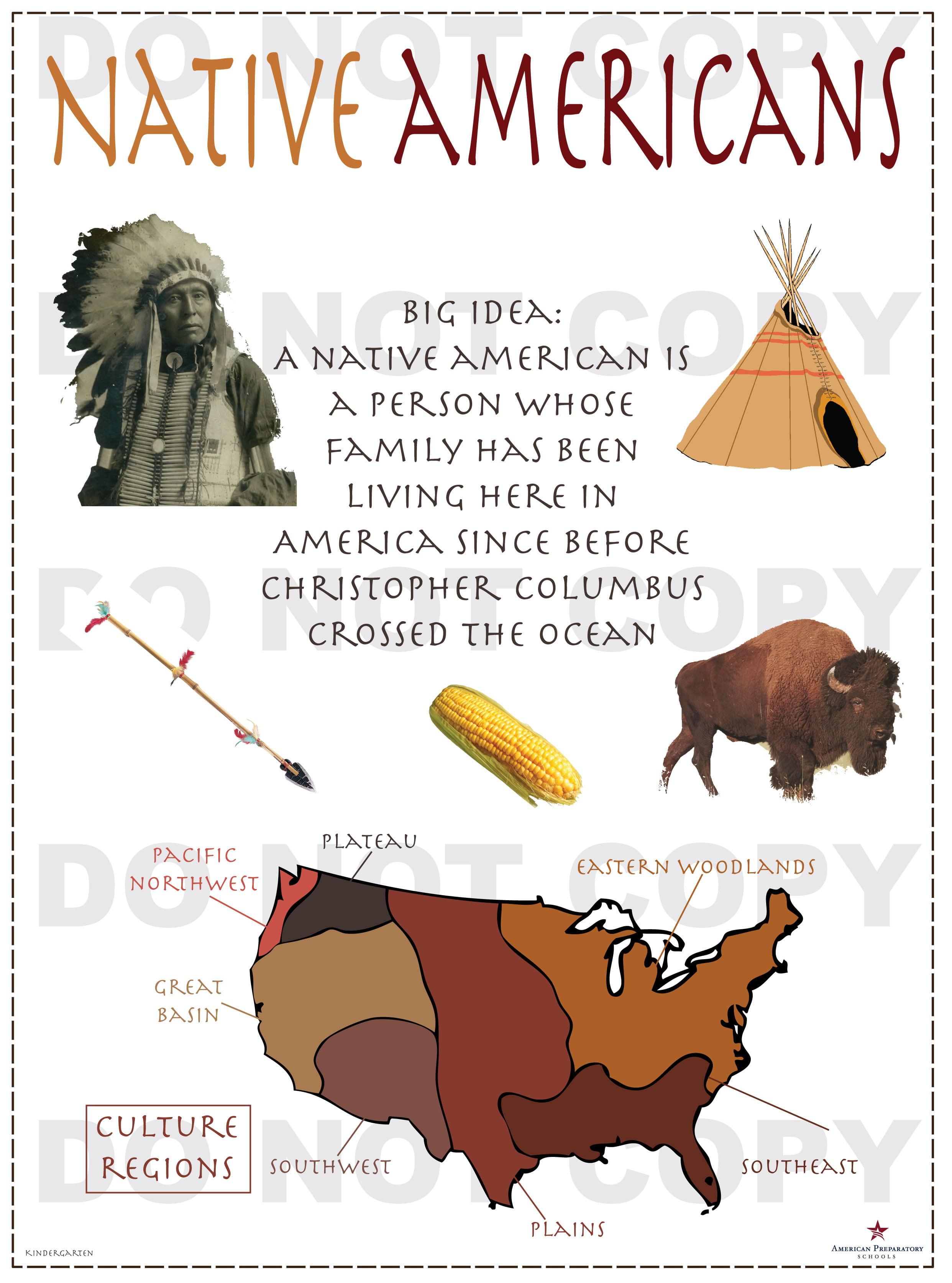 Native Americans Kindergarten