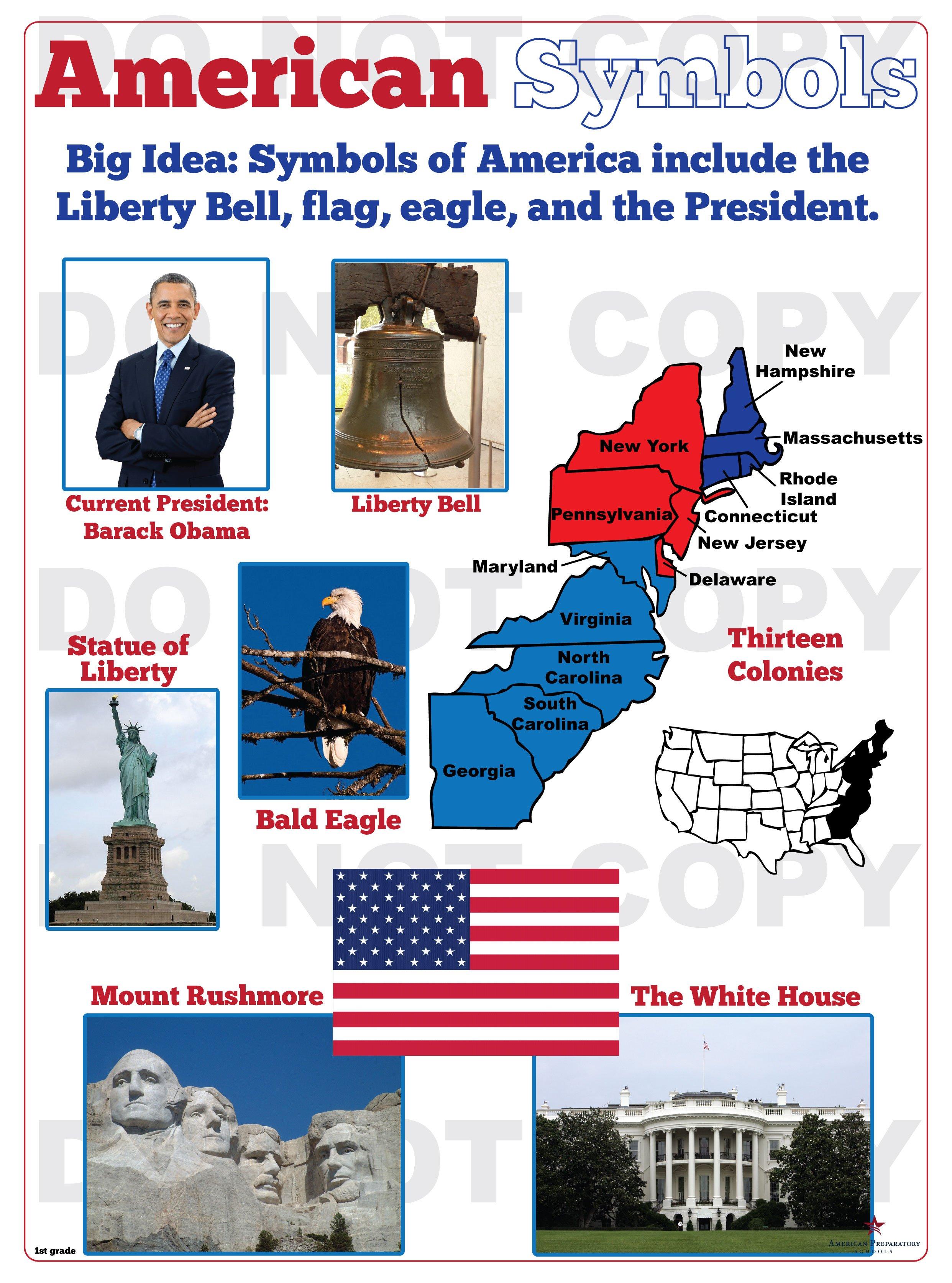 American Symbols 1st Grade