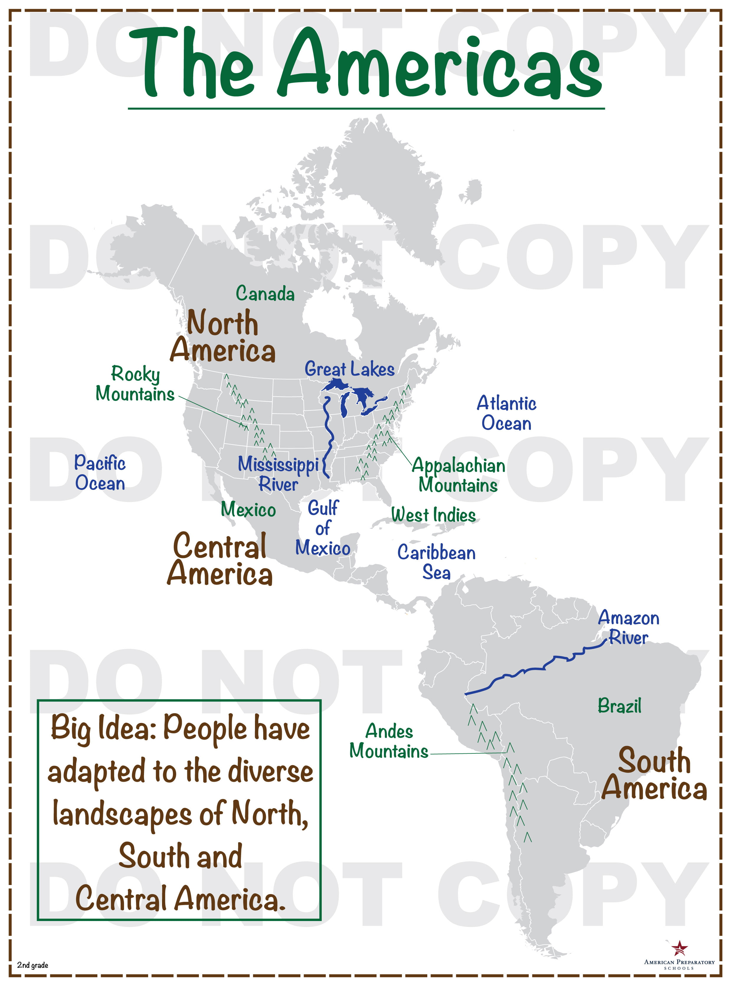 The Americas 2nd Grade