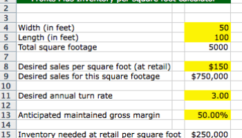 Return on Investment Calculator - American Quilt Retailer