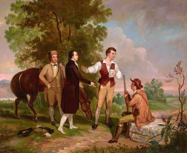 Asher Durand's painting of the capture of Andre is one of ten great American Revolution pantings.
