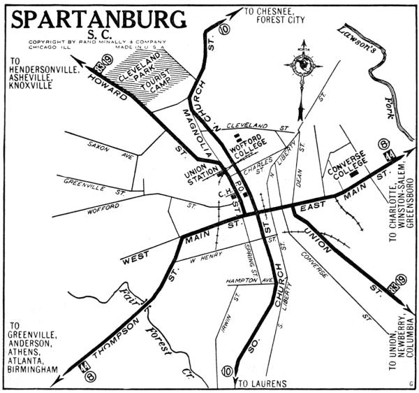 South Carolina City Maps at AmericanRoadscom