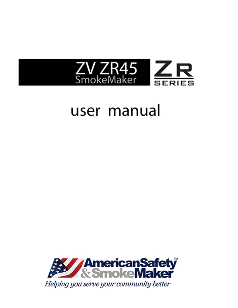 User Manuals for Smoke Machines and Accessories