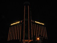 Subdued, linear lighting: Mandalay Bay, Las Vegas, Nevada
