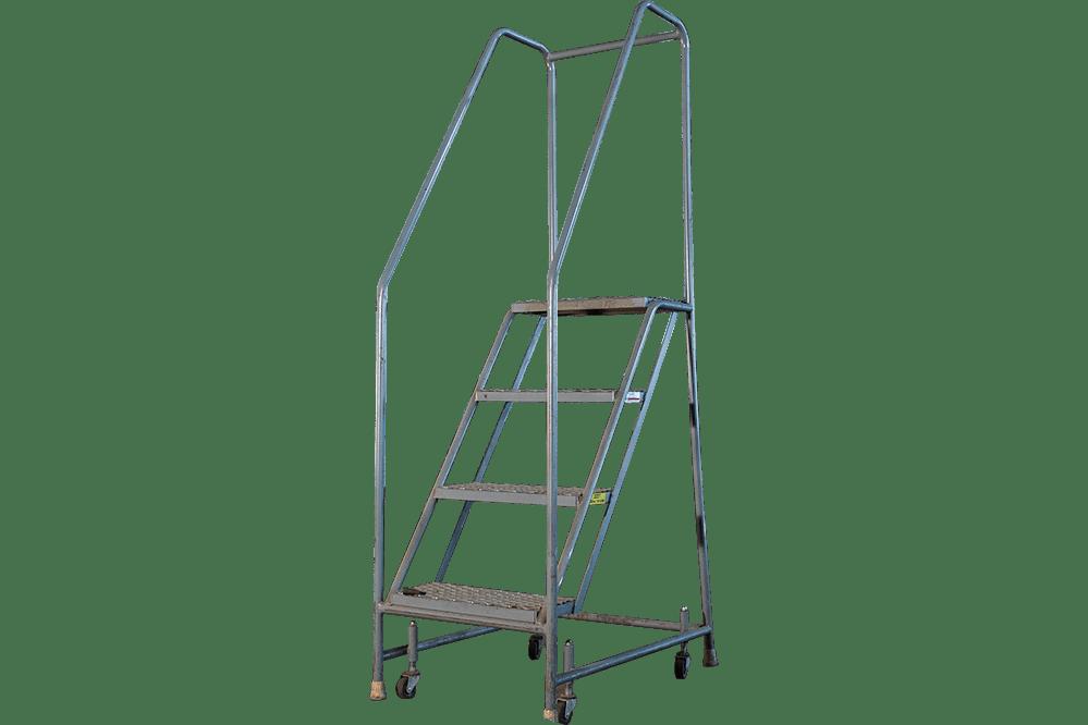 Used Tri-Arc 4-Step Rolling Ladders