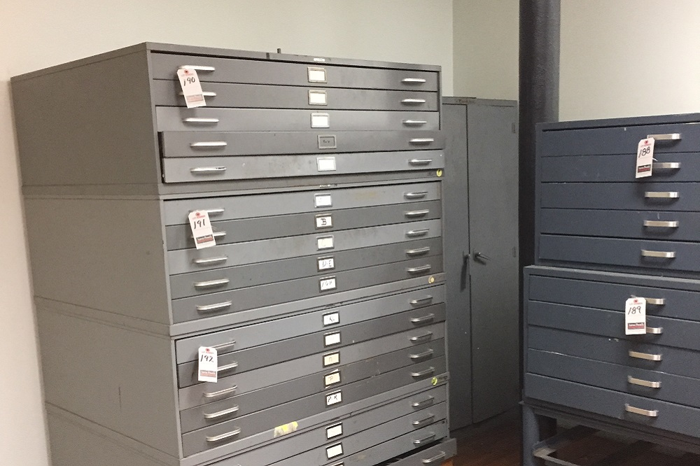 Used Blueprint Cabinets