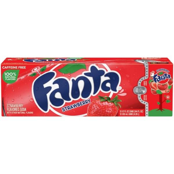 Fanta Strawberry 12oz 355ml Cans 12 Pack - American Fizz