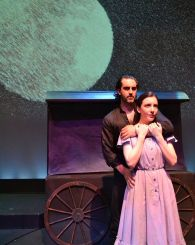 """""""110 in the Shade"""" by N. Richard Nash, Tom Jones, and Harvey Schmidt, at Palm Beach Dramaworks in West Palm Beach, Fla., through Aug. 23. Pictured: Cooper Grodin and Jessica Hershberg. (Photo by Samantha Mighdoll)"""