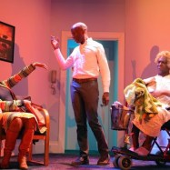 """Bootycandy"" by Robert O'Hara, running through Oct. 12 at Playwrights Horzions in New York City; with Jessica Frances Dukes, Phillip James Brannon and Lance Coadie Williams (photo by Joan Marcus)"