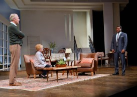 Will Lyman, Julia Duffy and Malcolm-Jamal Warner in Todd Kreidler's adaptation of GUESS WHO'S COMING TO DINNER, running at the Huntington Theatre Company in Boston through Oct. 5 (photo by Paul Marotta)