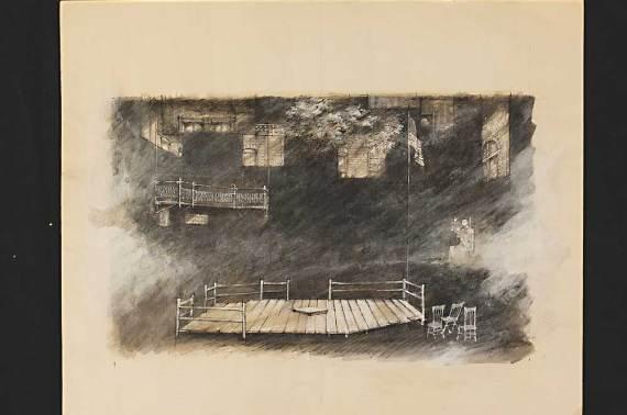 """Inherit the Wind,"" Arena Stage, 1973, sketch"