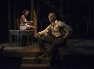 """""""Native Son,"""" adapted from Richard Wright's novel by Nambi E. Kelley, at the Court Theatre in Chicago; with Tracey N. Bonner and Jerod Haynes (photo by Michael Brosilow)"""