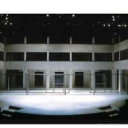 """Othello,"" Actors Theatre of Louisville, 1998, photograph. Jory comments, ""When I first saw the barracks set I thought, 'Man, that's ugly'—but in a beautiful way, as anything by Ming would be. It was hard to look at."""
