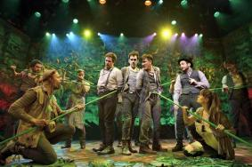 "The cast of ""Peter and the Starcatcher"" on Broadway. (Photo by Joan Marcus)"