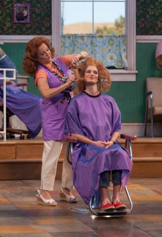 Kathryn Cherasaro and Allegra Edwards in Robert Harling's STEEL MAGNOLIAS, running through Sept. 28 at Idaho Shakespeare Festival in Boise