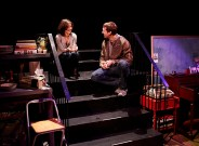 """Susan Pourfar and Russell Harvard in """"Tribes"""" at the Barrow Street Theatre. (Photo by Gregory Costanzo)"""
