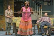 """Sharon Lockwood, Heather Alicia Simms and Anthony Fusco """"Vanya and Sonia and Masha and Spike"""" at Berkeley Repertory Theatre (photo by Kevin Berne)"""