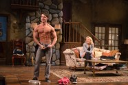 """David Gregory and Leslie Hendrix in """"Vanya and Sonia and Masha and Spike"""" at Hartford Stage (photo by T. Charles Erickson)"""