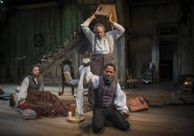 "Josh Landay, James Craven and Ro Boddie in Milwaukee Repertory Theater's production of ""The Whipping Man"" by Matthew Lopez. (Photo credit by Michael Brosilow)"
