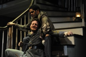 """Laurence Curry and in """"The Whipping Man"""" by Matthew Lopez at Curious Theatre Company. (Photo by Michael Ensminger)"""