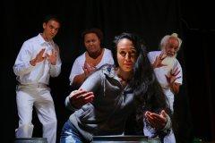"""Ku A Mo'o"" at Honolulu Theatre for Youth through Nov. 8; pictured: Tony Anagaran, Lelea'a Wong, Annie Lipscomb and Kealoha Kelekolio (photo by Brad Goda)"