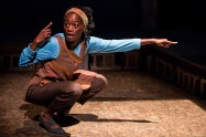 """""""Seedfolks,"""" adapted from the book by Paul Fleischman, running at Children's Theatre Company in Minneapolis through Nov. 16; pictured: Sonja Parks (photo by Dan Norman)"""