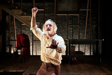 """""""An Iliad,"""" adapted from Homer by Denis O'Hare and Lisa Peterson, at Ensemble Theatre Cincinnati through Nov. 2; pictured: Bruce Cromer (photo by Ryan Kurtz)"""