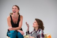 """""""Rapture Blister Burn"""" by Gina Gionfriddo, at the Wilma Theatre in Philadelphia through Nov. 2; pictured: Krista Apple-Hodge and Gwen Campbell Meaghan O'Hare (photo by Alexander Iziliaev)"""