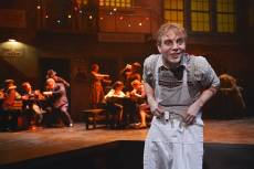"""Sweeney Todd"" by Hugh Wheeler and Stephen Sondheim, at TheatreWorks in Palo Alto, Calif. through Nov. 2; pictured: Spencer Kiely and cast (photo by Kevin Berne)"