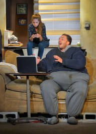 """""""The Whale"""" by Samuel D. Hunter, at Marin Theatre Company through Oct. 26; pictured: Cristina Oeschger and Nicholas Pelczar. (Photo by Kevin Berne)"""