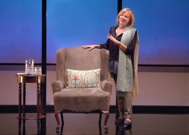 """""""The Year of Magical Thinking"""" by Joan Didion, at the Laguna Playhouse in Laguna Beach, Calif. through Nov. 7; pictured: Linda Purl (photo by Ed Krieger)"""