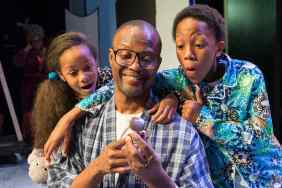 """A Soulful Christmas"" by Stepp Stewart, at Ensemble Theatre in Houston through Dec. 21. Pictured: Jannah Bryant, Andre' Neal and Trenton J. Sutton."