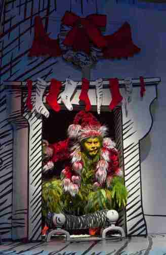 """How the Grinch Stole Christmas"" at the Old Globe in San Diego in 2014.. Pictured: Burke Moses. (Photo by Jim Cox)"