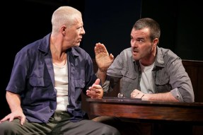 """""""The Intelligent Homosexual's Guide to Capitalism and Socialism with a Key to the Scriptures"""" by Tony Kushner, at Theater J in Washington, D.C. through Dec. 21. Pictured: Tom Wiggin and Tim Getman. (Photo by C. Stanley Photography)"""