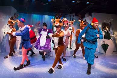 """""""Rudolph the Red-Nosed Reindeer"""" at the Coterie Theater in Kansas City, Mo. through Jan. 4. (Photo by J. Robert Schraeder)"""