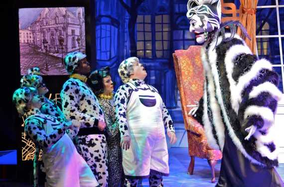 """""""101 Dalmatians,"""" coproduced by Imagination Stage and Children's Theatre of Charlotte in 2015. (Photo by Donna Bise)"""
