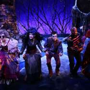 """The cast of """"Into the Woods"""" at Lyric Stage Company of Boston. (Photo by Mark S. Howard)"""