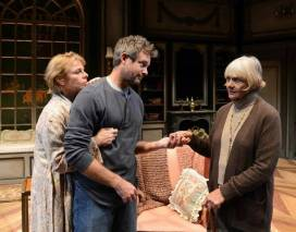 """My Old Lady"" by Israel Horovitz, at Palm Beach Dramaworks in West Palm Beach, Fla. through Jan. 11. Pictured: Angelica Page, Tim Altmeyer and Estelle Parsons. (Photo by Alicia Donelan)"