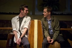 """""""Pocatello"""" by Samuel D. Hunter, at Playwrights Horizons through Jan. 4, 2015. Pictured: Cameron Scoggins and T.R. Knight. (Photo by Jeremy Daniel)"""
