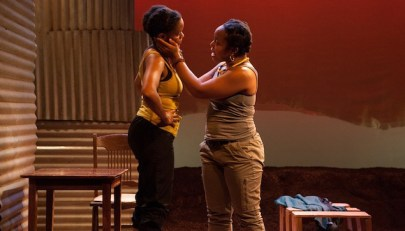 """The Dangerous House of Pretty Mbane"" by Jen Silverman, at InterAct Theatre Company in Philadelphia through Feb. 8. Pictured: Aimé Donna Kelly and Lynnette R. Freeman."