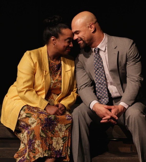 """""""Yellowman"""" by Dael Orlandersmith, at the Performance Network Theatre in Ann Arbor, Mich. through Feb. 15. Pictured: Casaundra Freeman and Jonathan West."""