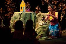 """The Biggest Little House in the Forest,"" adapted by Rosanna Staffa from the book by Djemma Bider, at Children's Theatre Company in Minneapolis through Mar. 15. Pictured: Autumn Ness. (Photo by Dan Norman)"