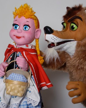 """""""The Big Bad, Little Red, Pig Show"""" by Lee Bryan, at the Center for Puppetry Arts in Atlanta through Jan. 25."""